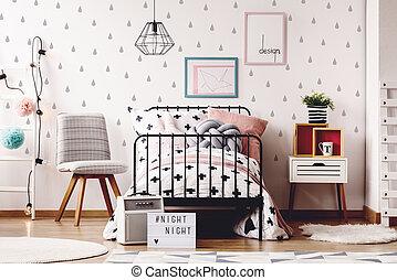 simples, lugar crianças, tapetes