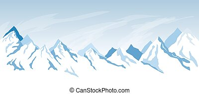 simples, montanha, fundo