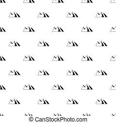 simples, montanhas, estilo, padrão