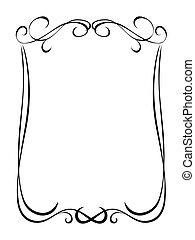 simples, ornamental, decorativo, pretas, quadro