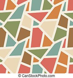 simples, padrão, abstratos, -, seamless, cor, vetorial, desenho, fundo, vindima, geomã©´ricas
