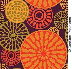 simples, padrão, africano, seamless, tribal