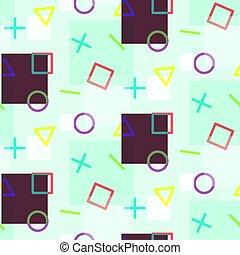 simples, padrão, geomã©´ricas, elementos, seamless