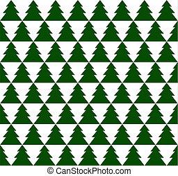 simples, padrão, verde, seamless, árvores