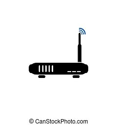simples, router, ícone