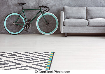 simples, sala de estar, espaço cópia