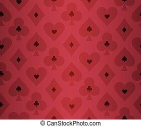 simples, vermelho, pôquer, fundo, com, transparente, efeito