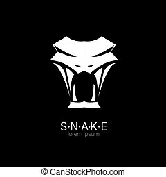 simples, vetorial, desenho, cobra, logotipo, element.