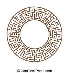 simplicidade, circular, labirinto