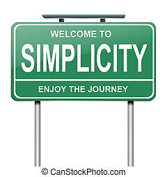 simplicité, concept.