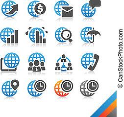 simplicité, finance, business, série, global, -, vecteur, icône