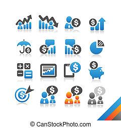 simplicité, finance, business, série, -, vecteur, icône