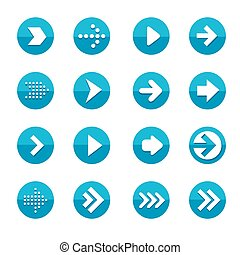 simplicity flat design arrows set