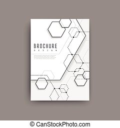 simplicity hexagon element poster design isolated on grey