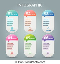 simplicity infographic design with speech bubble elements