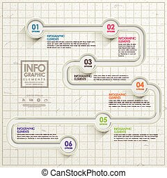 simplicity infographic template design with road elements