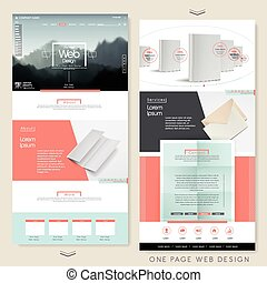 simplicity one page website design template with blank ...
