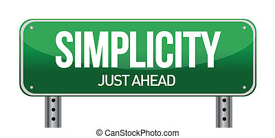 simplicity road sign illustration design over a white...