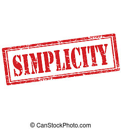 Simplicity-stamp - Grunge rubber stamp with word Simplicity...