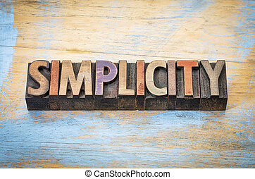 simplicity word abstract