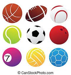 Sport Balls Icon Set - Simplified Sport Balls Icon Set ...
