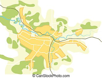 Simplified Vector Map of The City II - Simplified Vector Map...