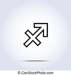 simplistic, 黄道帯, 星, sagittarius, 印