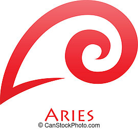 Simplistic Aries Zodiac Star Sign - Illustration of...