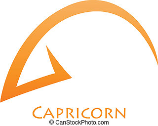 Simplistic Capricorn Zodiac Star Sign - Illustration of...