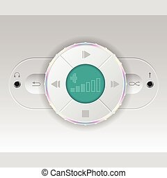 Simplistic car audio dashboard