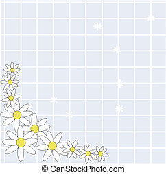Simplistic Daisy background - Daisies on a woven mat of...