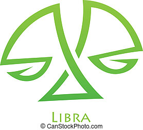 Simplistic Libra Zodiac Star Sign - Illustration of...