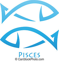 Simplistic Pisces Zodiac Star Sign - Illustration of...