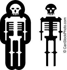 Simplistic skeleton Icon Vector