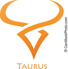 Simplistic Taurus Zodiac Star Sign - Illustration of...