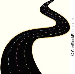 simplistic, vecteur, vitesse, route