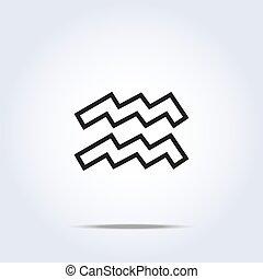 simplistic, verseau, zodiaque, signe étoile