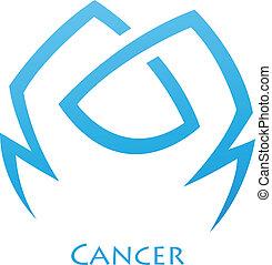 simplistic, zodiaque, étoile, cancer, signe