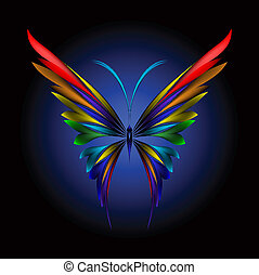Simply butterfly - Vector illustration of icon simply ...