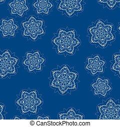 Simply childish seamless snow-flakes pattern
