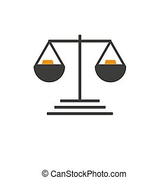 Simply weight icon. Compare logo symbol. Scales judgment ...