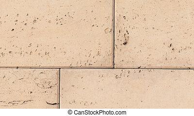 simulated sandstone blocks in concrete