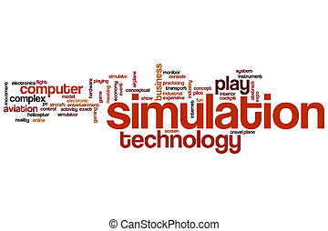 Simulation word cloud - Simulation concept word cloud...
