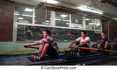 Simulator canoe rowing