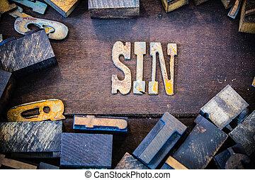 Sin Concept Rusty Type