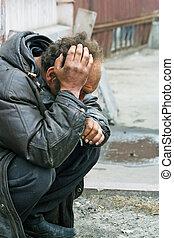 sin hogar, hombre