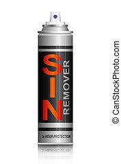 Sin remover concept.