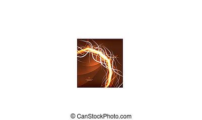 sinaasappel, abstract, lightning, achtergrond., kolken, energie