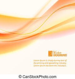 sinaasappel, abstract, lines., zakelijk
