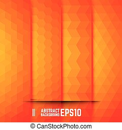 sinaasappel, abstract, set, achtergronden
